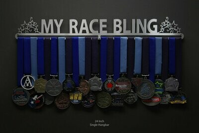 My Race Bling with stars Medal Display