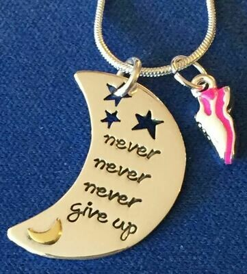 Never Give Up Charm Duo Necklace