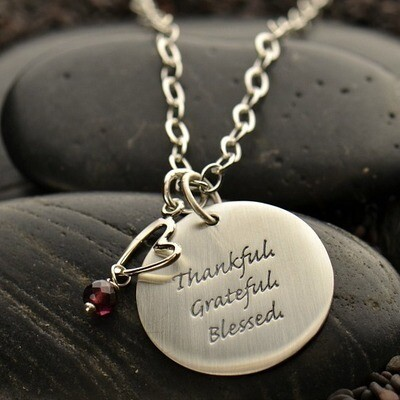 Running is a Blessing Quote Charm Necklace