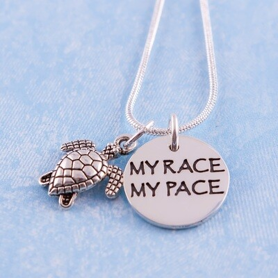 My Race My Pace Charm Necklace
