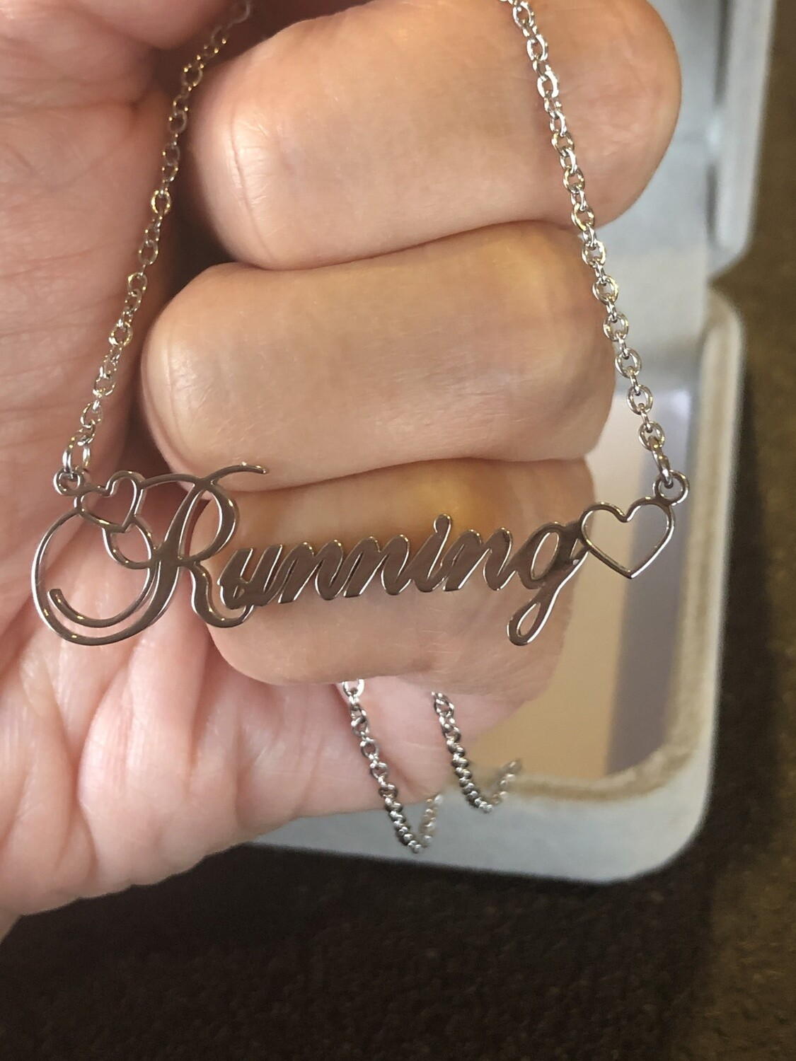 Running Heart Necklace