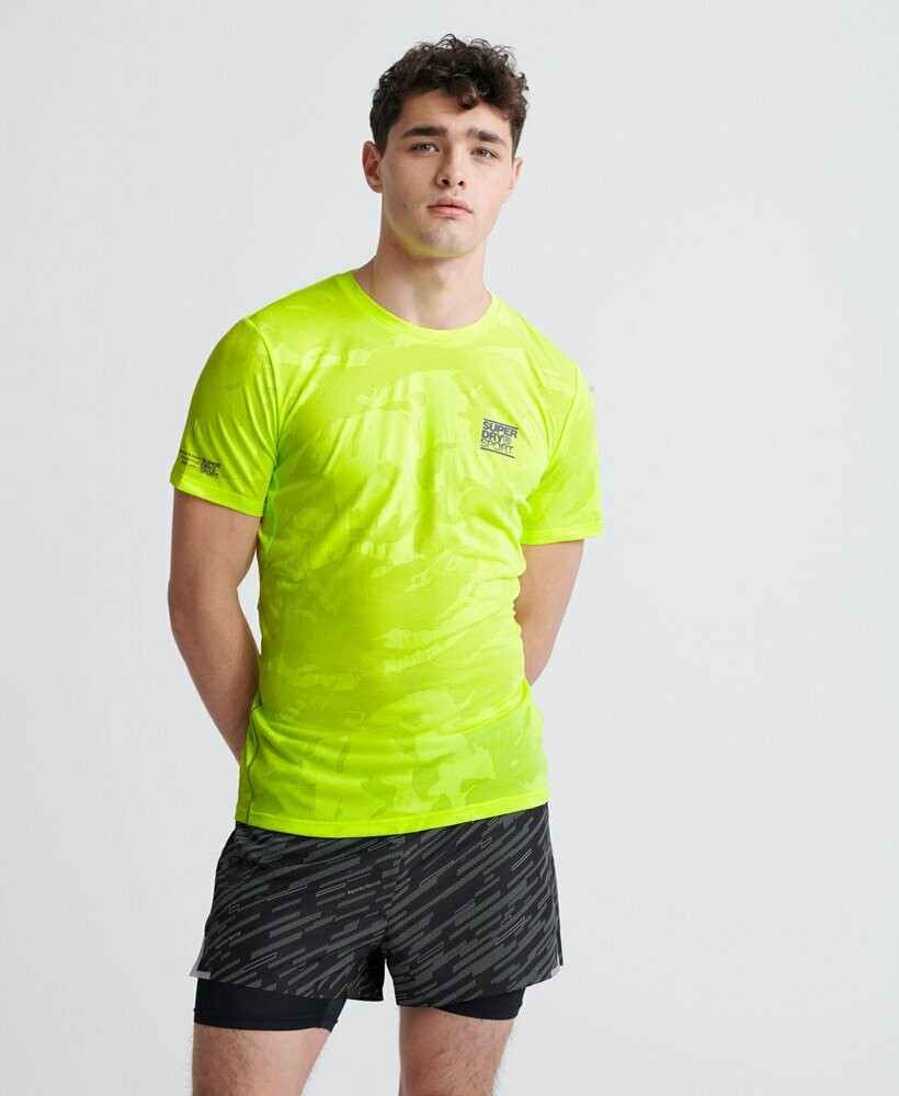 Camiseta Tecnica Superdry Transpirable Malla Camuflaje
