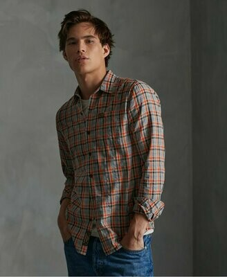 Camisa Lite Cuadros Workwear Orangecheck