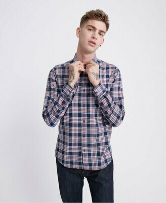 Camisa Lite Cuadros Workwear Navycheck