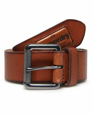 Cinturon Badgeman De Piel 100% Marron Claro