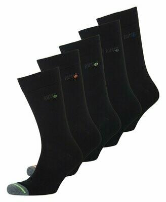 pack de 5 pares de calcetines negros