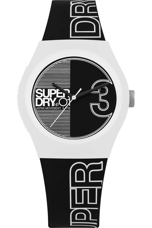 reloj negro y blanco de caballero