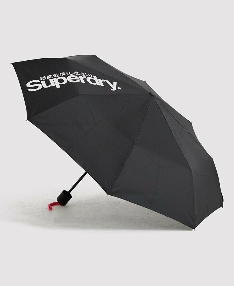 Paragua Superdry Minilite Umbrella negro-rosa