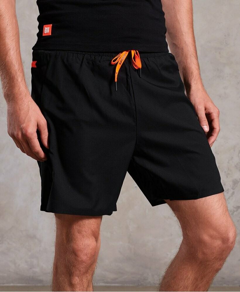 Active Double Layer Shorts Deep Teal negro