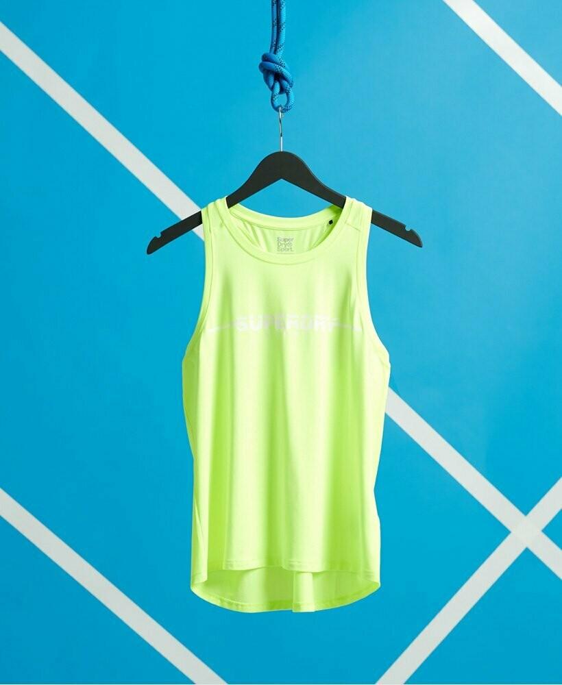 Camiseta Tirantes Luminous yellow  con Logo training vest
