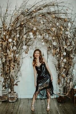 Платье-комбинация с бахромой Estrella