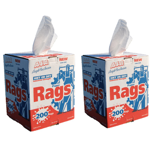 Paper Rags (White) in a Centerpull Box - 200 Count-Value Pack