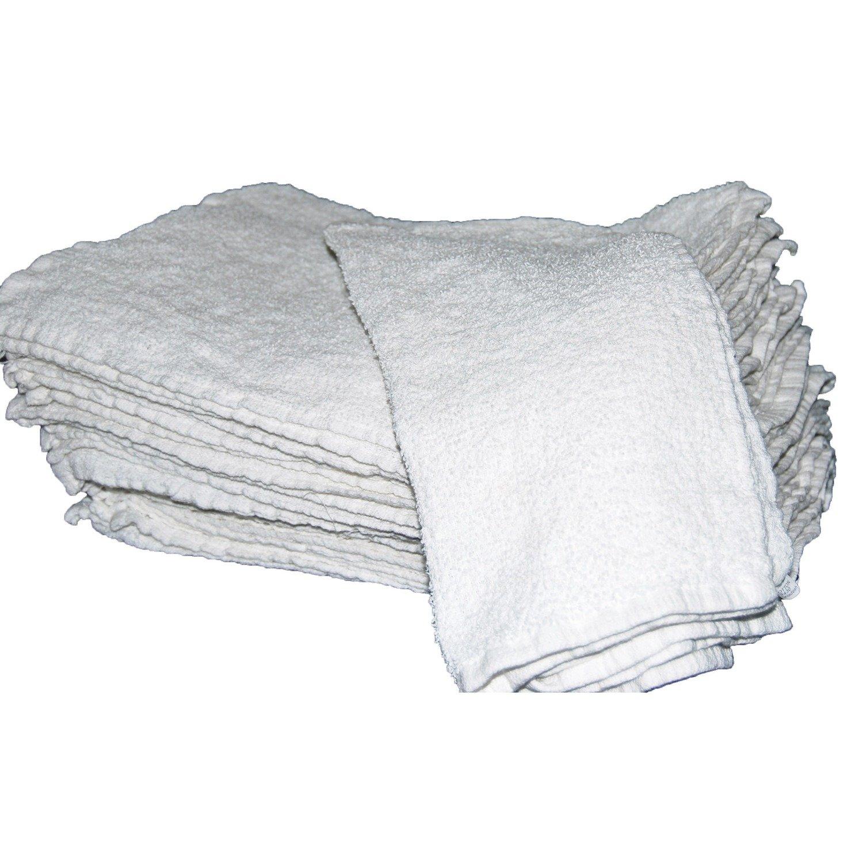 White Cotton Bar Towels 16x19 (5 Doz.)