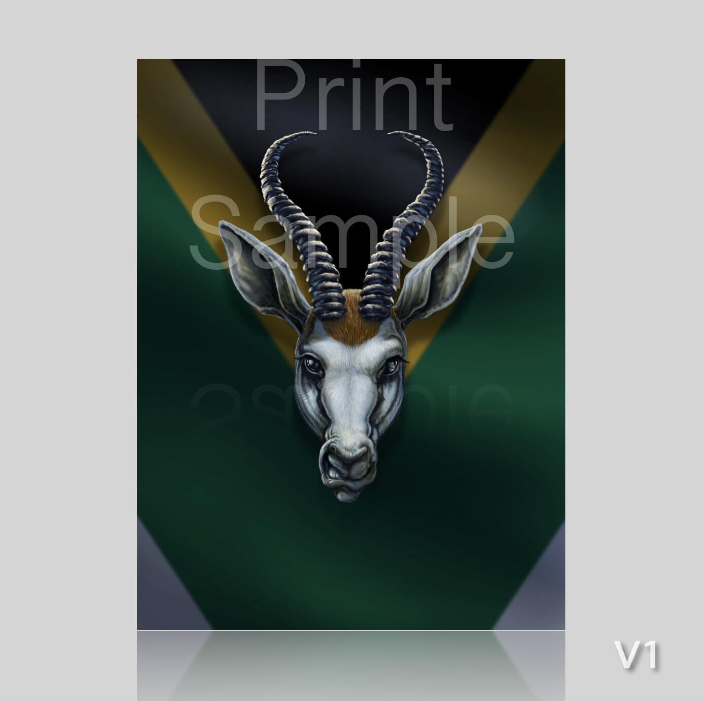 Springbok SA - Archival Quality prints - Choose from 2 versions