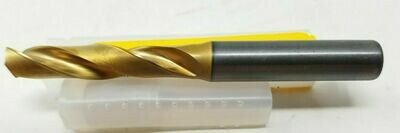 Kennametal 8.6mm 135° Spiral Flute Solid Carbide Screw Machine Drill Bit TiCN