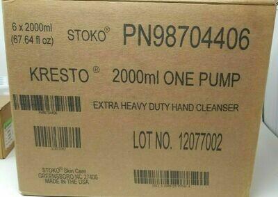 Case 6 Stoko Kresto 2000mml Soft Bottle Extra Heavy Duty Hand Cleaner PN98704406