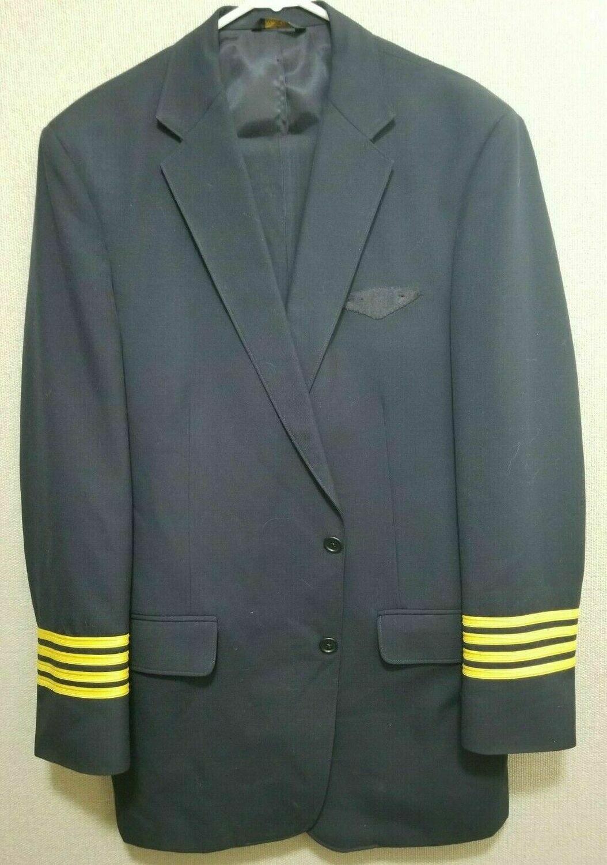 Vintage TWA Pilot Suit Coat and Pants Murphy & Hartelius 45 Long 34 Reg