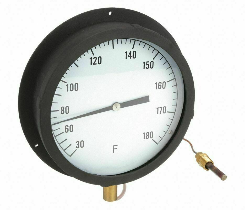 """Industrial Scientific Panel Mount Thermometer 30f to 180f 8.5"""" 60"""" tube"""