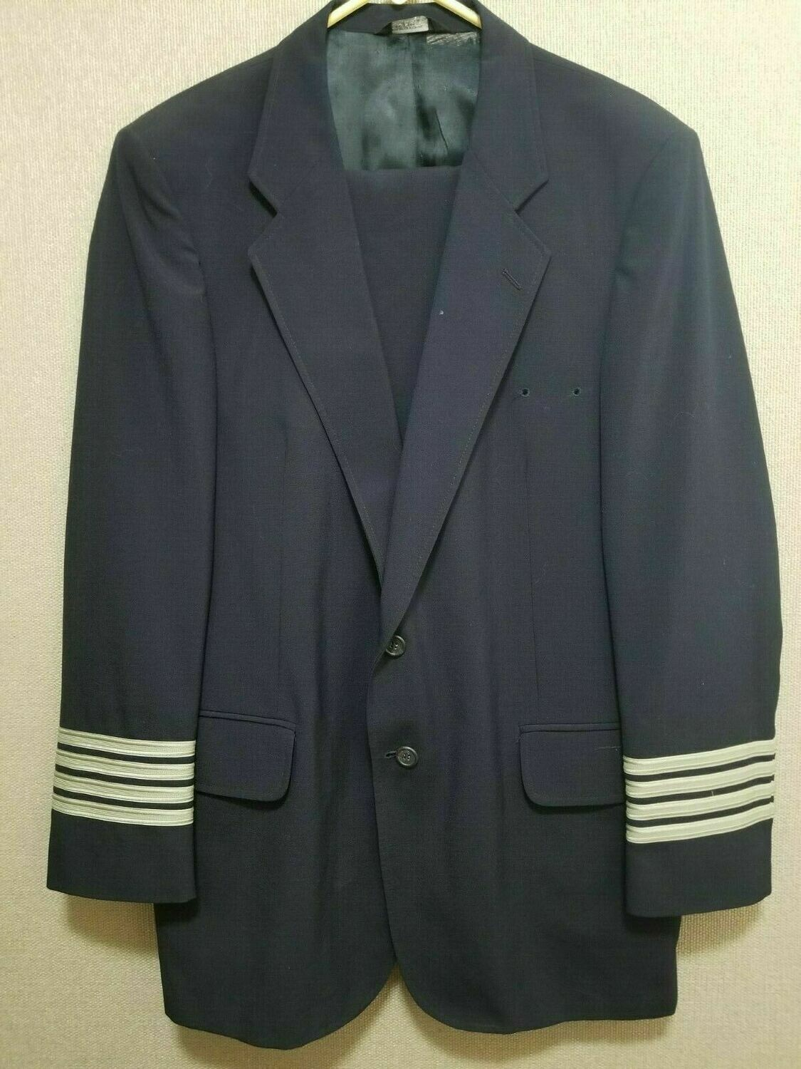 Vintage AMR American Pilot Suit Coat and Pants VF Imagewear 44 Reg 34 Reg