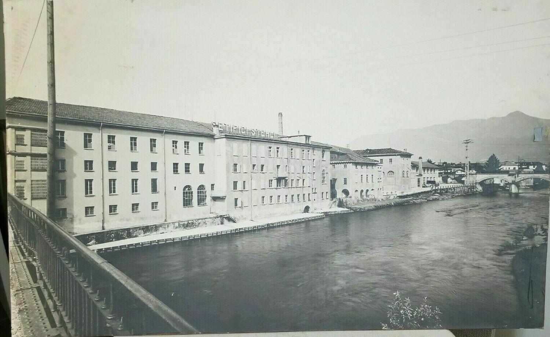 "Vintage Stehli Silk Company Italian Factory Photograph Print 38"" x 24"""