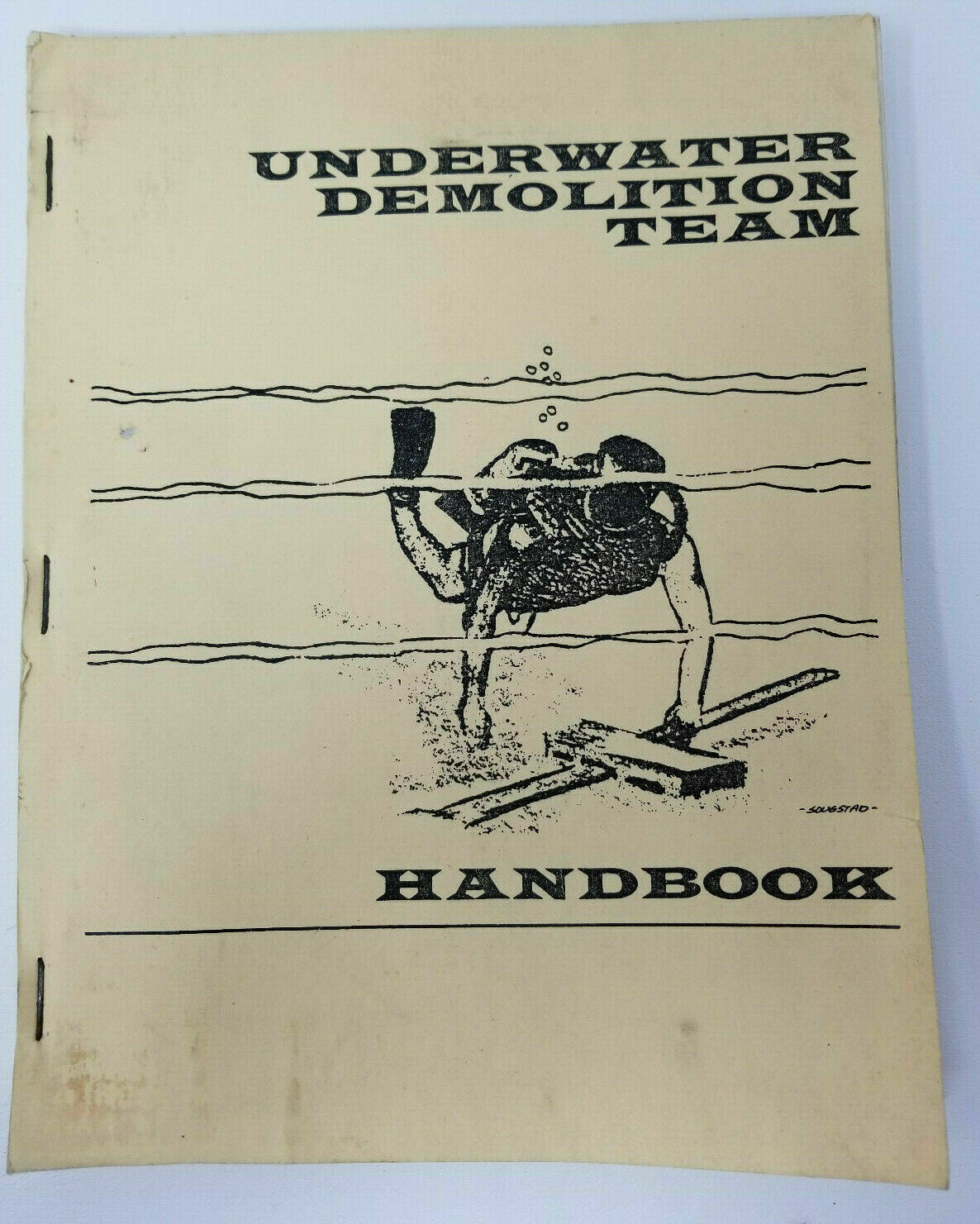 Official Underwater Demolition Team Handbook 1st Edition 1965 T. Dunne UDT