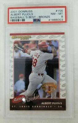 2001 Donruss Rated Rookie #156Albert Pujols RC #156 NM-MT 8