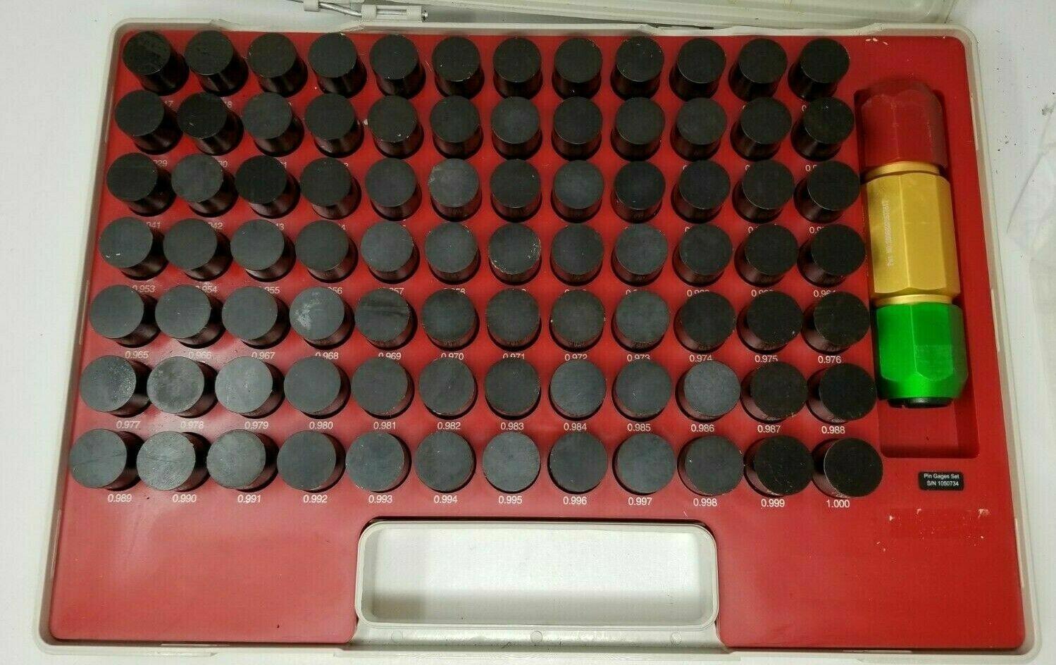 84 Piece 0.917-1 Inch Diameter Plug and Pin Gage Set M7 Plus SPI
