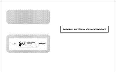 1099 Self-Seal Double Window Envelope #7777-2 (Set of 100)