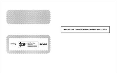 1099 Self-Seal Double Window Envelope #7777-2 (Set of 100)