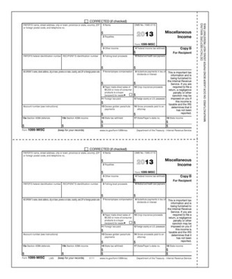 1099-MISC Form #5111 Recipient Copy B (Pkg. of 100 Forms)