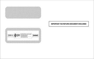 ACA 1095CENV Employer Provided Health Ins. Coverage Double Window Env. (Set of 100)