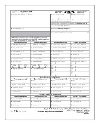 W-2C Form #5316 Copy C (Pkg. of 100 Forms)
