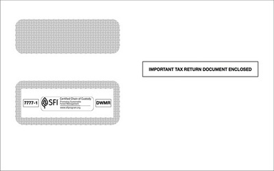 ACA 1095B Health Coverage Double Window Envelope (Set of 100)
