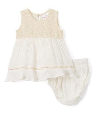 Lace Detail Infant swan dress