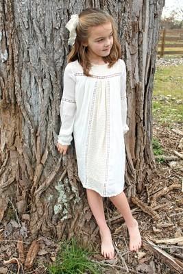 Lace Detail Dress (Off White, Light Pink & Light Blue!)