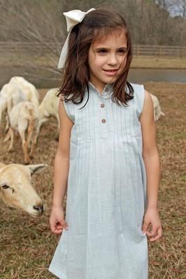 Pin Tuck Detail Shift Dress (Light Blue & Blush!)