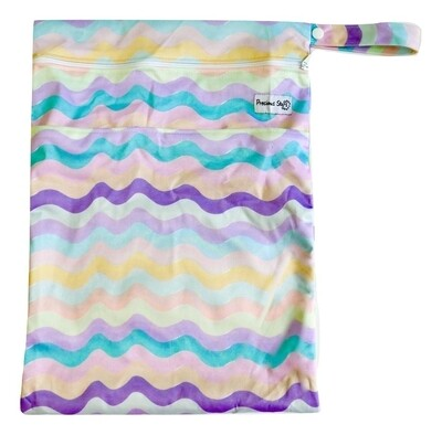 Colourful waves - Large Wet Bag