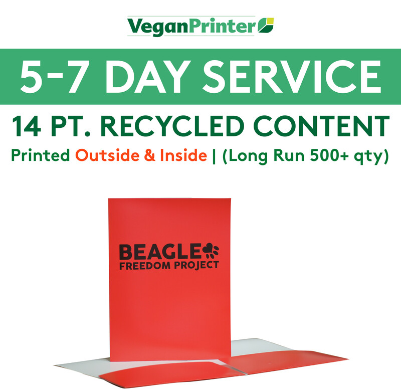 14 pt. Recycled Content Presentation Folders Printed Outside & Inside | 5-7 Day Service |  (Long Run 500+ qty )