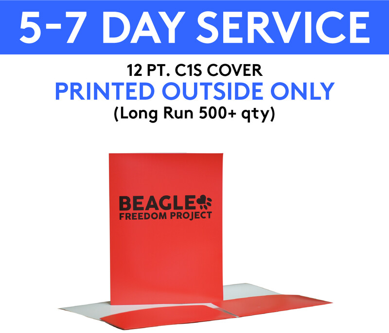 12 pt. C1S Cover Presentation Folders Printed 4/0 (Outside Only) | 5-7 Day Service |  (Long Run 500+ qty )