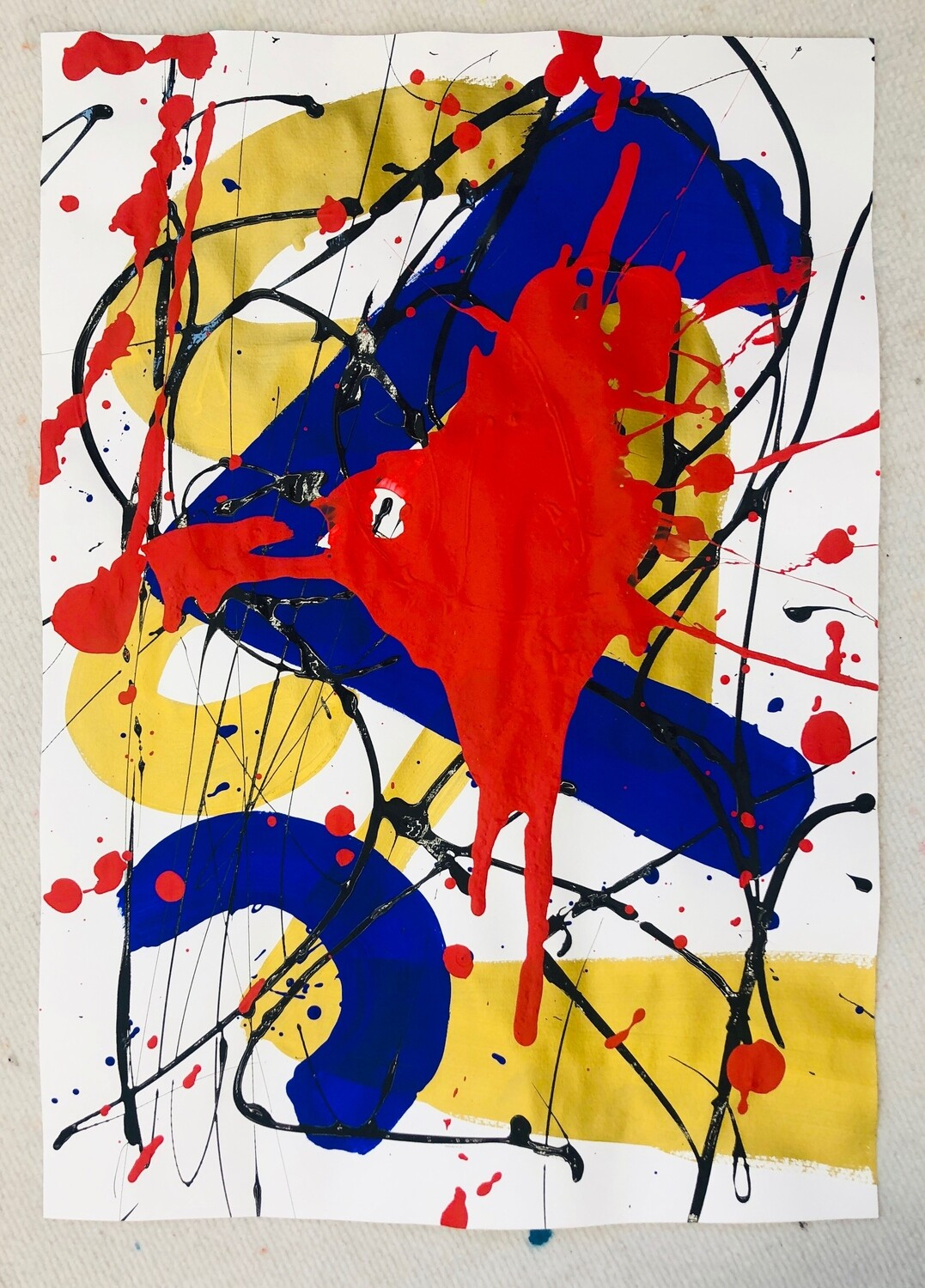 Untitled - Royal Abstract Series Paper Work