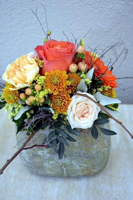 Blumengesteck Orange