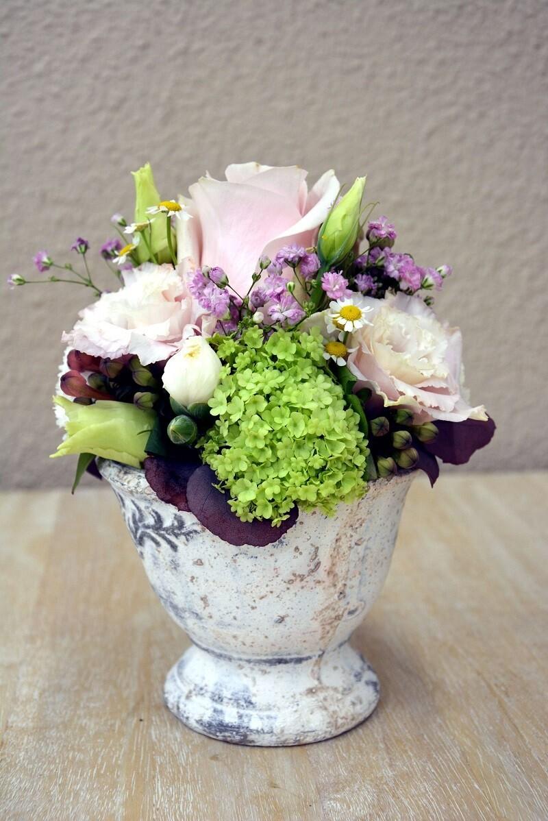 Blumengesteck rosa & weiss