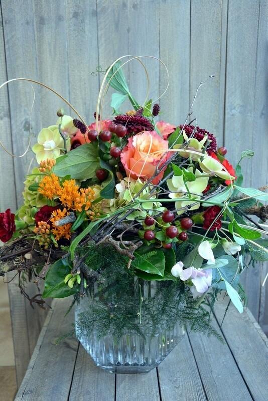 Blumenstrauss natürlich rot & orange