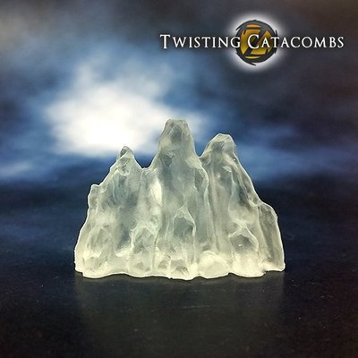 Ice Wall (Clear            White Resin)