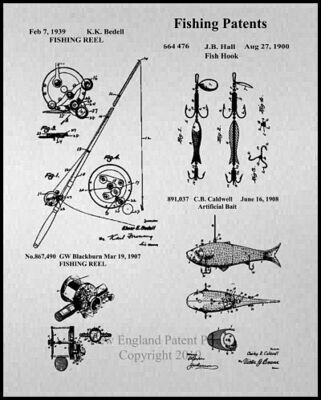 Fishing Gray Patent - Framed