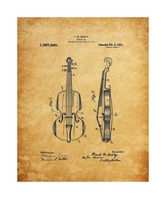 Violin, 1929, Unframed & Matted