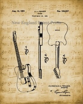Guitar - Fender 1951 Unframed