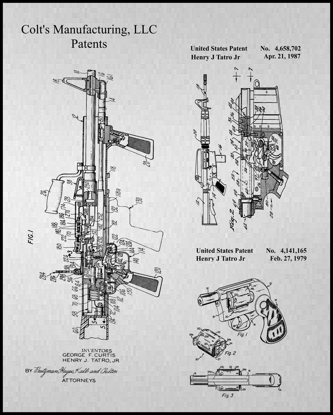 Colt's Industries LLC Patent for Machine Gun