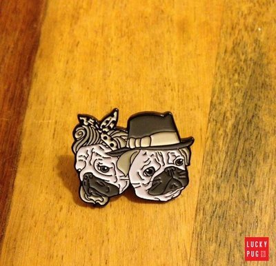 Romantic Pugs Soft Enamel Pin