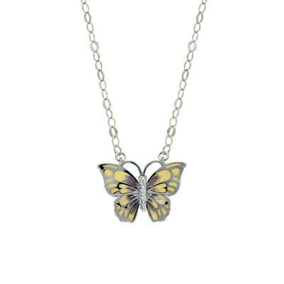 collana farfalla gialla